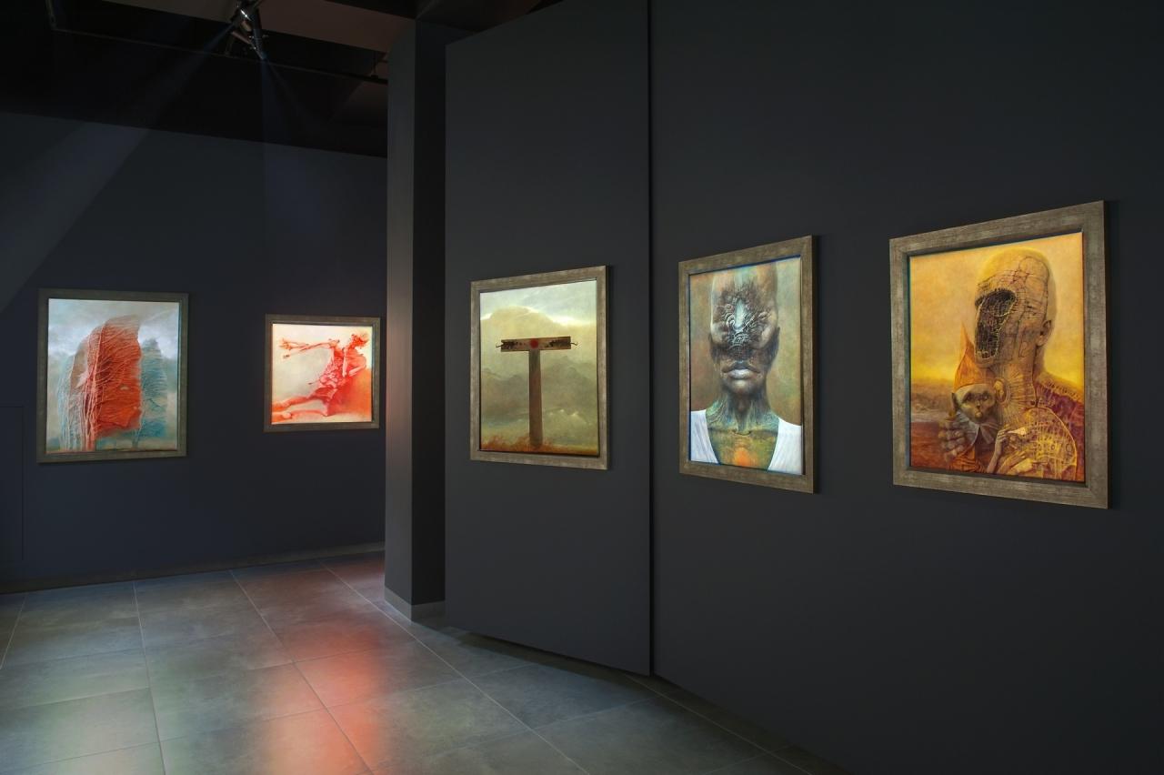 Galeria Zdzisława Beksińskiego w Krakowie 10-01-18