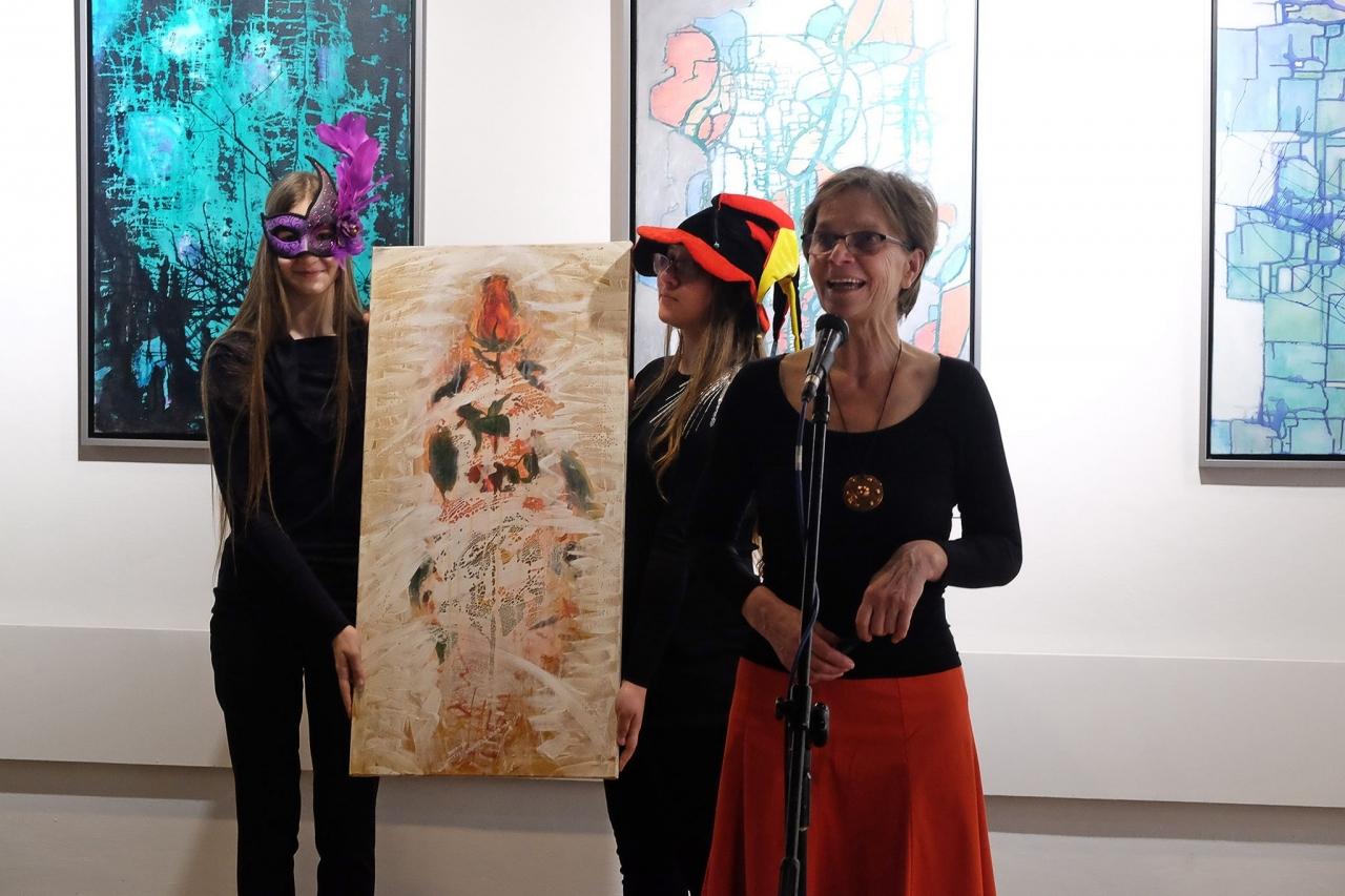 """Wernisaż wystawy malarstwa """"Zapis"""" Barbary Wroniszewksiej 16-01-18"""
