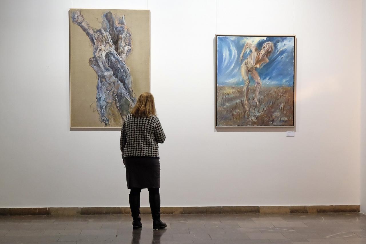 """Wernisaż wystawy malarstwa """"eMOCje"""" Grzegorza Skawińskiego 16-01-18"""