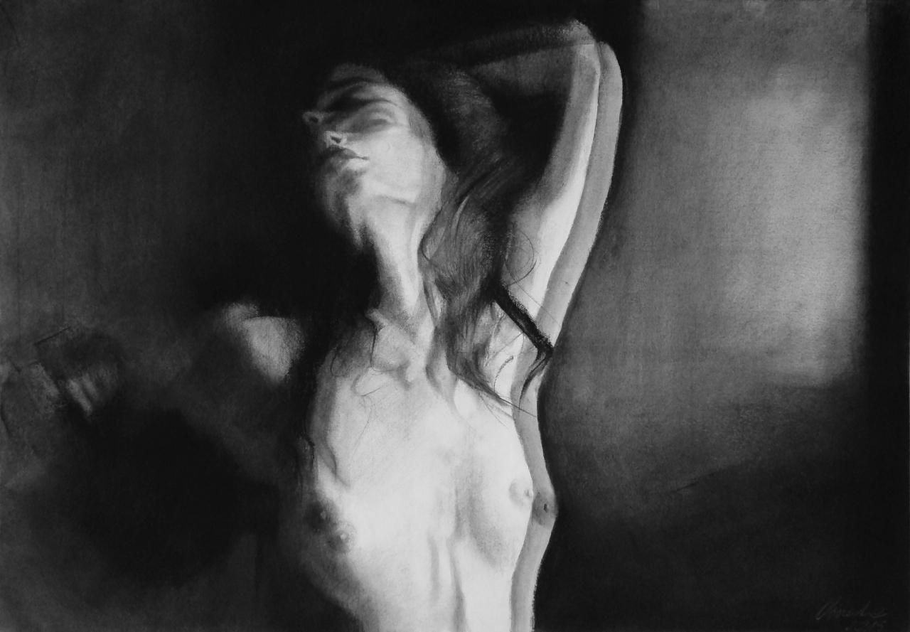 """Brak tytułu 11-07-18 - """"Iluzja"""",  praca w technice rysunku na papierze, 2016"""