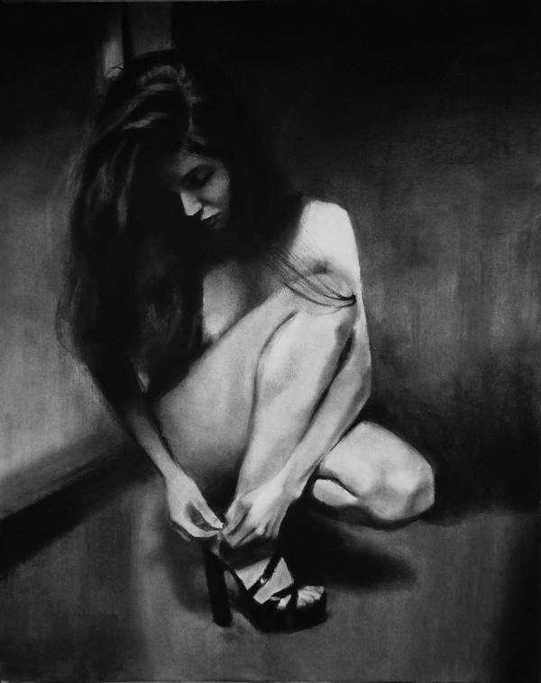 """Brak tytułu 11-07-18 - """"Przebłysk"""", praca w technice rysunku na papierze, 2016"""