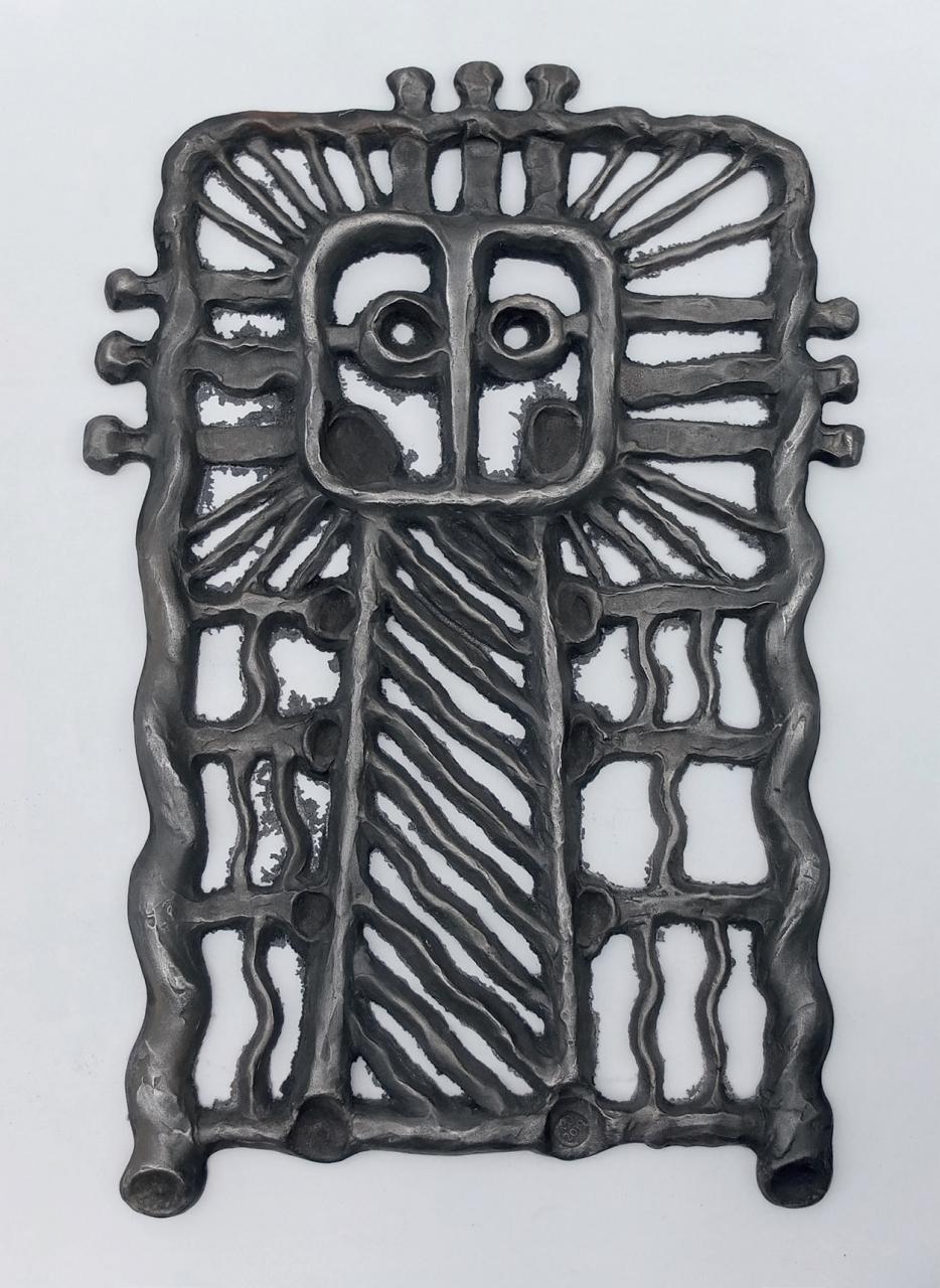 Brak tytułu 17-12-19 - Mateusz Dworski, Plakieta ażurowa V, żeliwo, 35x31 cm, 2019