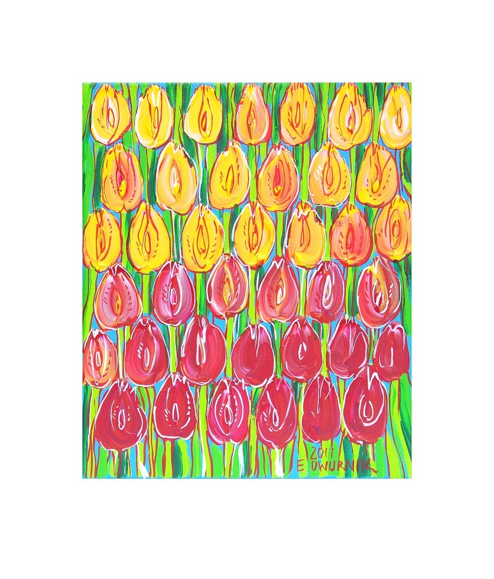 Edward Dwurnik 26-06-20 - Edward Dwurnik - Tulipany Galeria Sztuki ATTIS